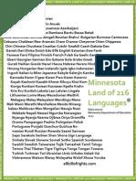 Minnesota Land of 216 Languages