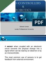 Microcontroller with IR sensors