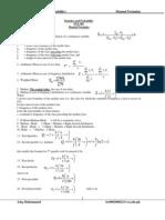 Sta 301 Formulas