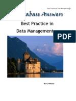 Best Practice in Data Management