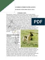 Notas Sobre El Perro Pastor Alemán