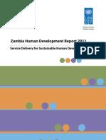 Zambia Human Development Report 2011