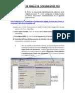 Proceso de Firma Electronica de Documentos PDF