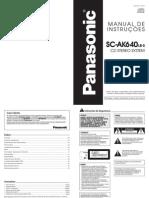 Som Panasonic AK640LB-S - Manual