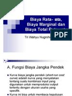 6. Biaya Rata-Rata, Biaya Marginal Dan Biaya Total