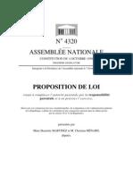 """Proposition de Loi visant à remplacer """"l'autorité parentale"""" par """"la responsabilité parentale"""" 7 Fev 2012"""