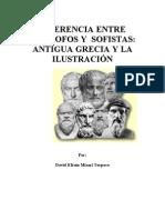 DIFERENCIA ENTRE FILÓSOFOS Y  SOFISTAS