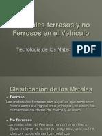 Materiales Ferrosos y No Ferrosos en El Vehiculo
