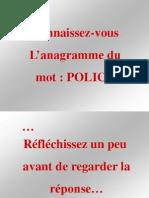 L'Anagramme Du Mot Police