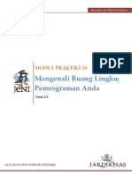 1.1 Mengenal Lingkup Pemrograman