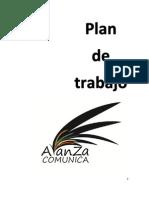Plan de Trabajo Avanza Comunica Cfcom 2012