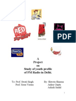 Project on the study of youth profile of the listeners of fm radio