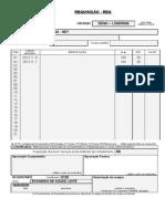 Folha De Requisição De Material Do SENAI