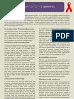 HIV and Humanitarian Responses