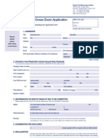 TRA Yachtmaster Ocean Exam Application