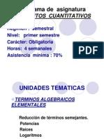 Primera Clase Algebra 2012