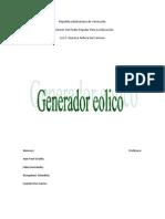 Generador eólico proyecto