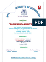 Report on Banking Management System