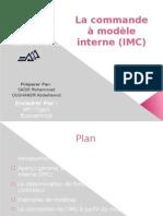 La commande à modèle interne (IMC)