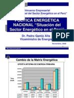 Situacion Energetica en El Peru