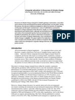 Poverty, Protest and Popular Education in Discourses of Climate Change Scandrett, Crowther, McGregor Draft-1