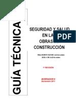 Borrador Guia Seguridad y Salud en Las Obras de Construccion