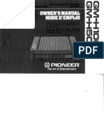 Pioneer Gmh50, 100 User Manual