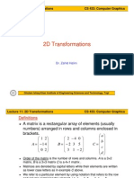 CG Lect 11 2DTransformations