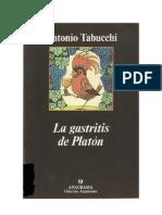 Tabucchi Antonio - La Gastritis de Platon