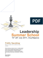 LSS2011 Handout Public Speaking