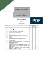 Geology 05 Mark-Scheme