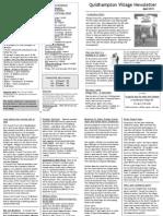 Quidhampton Newsletter April 2011