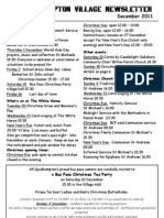 Quidhampton Village Newsletter December 2011