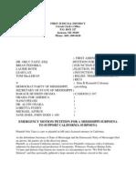 MS - 2012-04-15 - TAITZ - Emergency Petition for Subpoena for Viviano-Gaston
