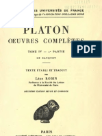 Platon - Oeuvres Completes - Belles Lettres - Tome IV.2 - Le Banquet