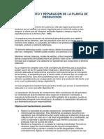 MANTENIMIENTO Y REPARACIÓN DE LA PLANTA DE PRODUCCIÓN