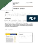 Informe Hacking Etico - SQL Injection
