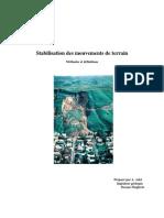 Stabilisation Des Glissements de Terrain