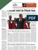 CB SoirBrux - Rwanda Le Président américain reçoit tous le Honneur