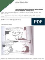 4-b - Informações implícitas- Subentendidos