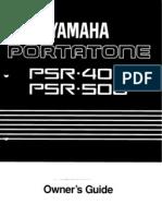 PSR500E Manual