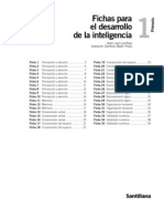 Fichas Desarrollo de La Inteligencia Santillana[1]