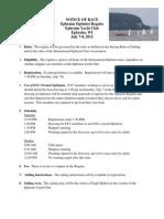 2012 EYC Optimist Regatta Notice of Race