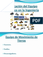 Clasificación del Equipo Mecánico en la Ingeniería