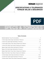 K-Series Torques & Specs