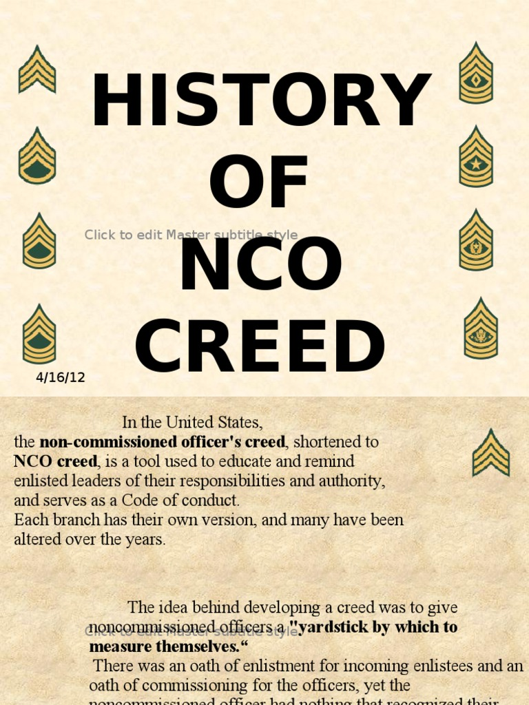history on the nco By michael l lewis nco journal the navy has had one for more than 50 years the air force's draws more than 13 million people to it every year.