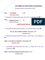 lembretes de fórmulas para saúde e sociedade II