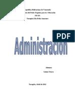 Trabajo de Los Antecedentes de La Adminnistracion