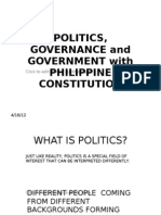 Politics, Governance and Government With Philippine Constitution by Roman r. Dannug