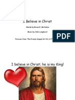 I Believe In Christ